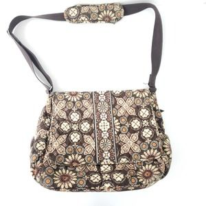 Vera Bradley Brown Floral Diaper Bag Gender Neutra